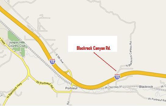 Blackrock Canyon map