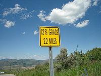 12 percent grade 2.2 miles