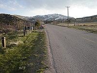 Mountain road scene
