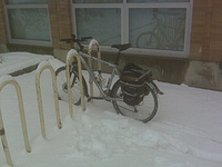 My Snow Bike Parked At Work